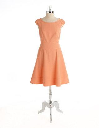 Maggy London Cap-Sleeved A-Line Dress