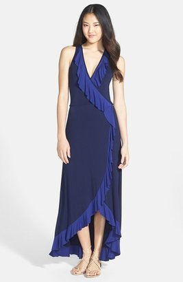 Nordstrom FELICITY & COCO Ruffled Faux Wrap Maxi Dress (Regular & Petite Exclusive)