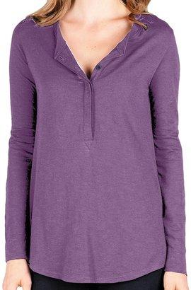 Lilla P Flame Tunic Henley Shirt - Pima Cotton-Modal, Long Sleeve (For Women)