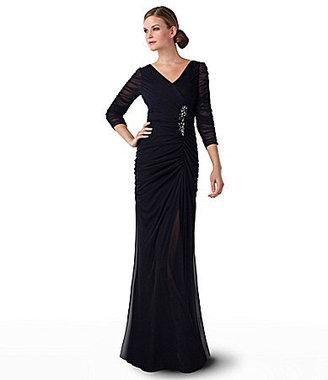 Adrianna Papell Bead-Waist Gown