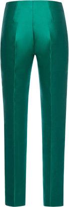Antonio Berardi Emerald Silk Scuba Trousers