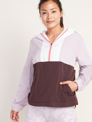 Old Navy Go-H20 Water-Resistant Color-Blocked Anorak for Women