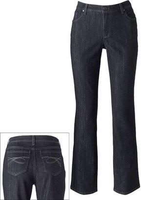 Gloria Vanderbilt ashley slimming straight-leg jeans - petite