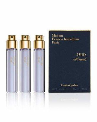 Francis Kurkdjian OUD Silk Mood Extrait de Parfum Travel Spray Refills, 3 x 0.37 oz./ 11 mL