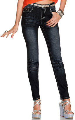 Do Denim Juniors Jeans, High Waist Skinny Leg Dark Wash