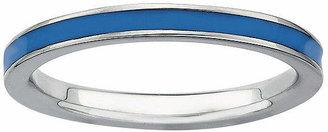 FINE JEWELRY Sterling Silver Enamel Stackable Ring