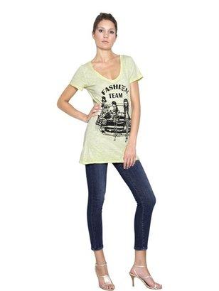 Printed Jersey Melange T-Shirt