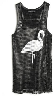 Love Leather Flamingo Slam Dunk Tank