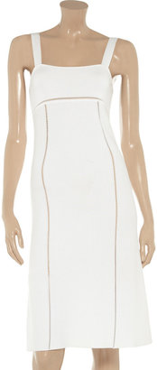 Valentino Roma Paneled knitted dress