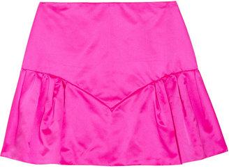 Miu Miu Silk-duchesse mini skirt