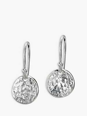 Dower & Hall Textured Disc Drop Earrings