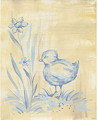Chickie Toile Canvas Reproduction