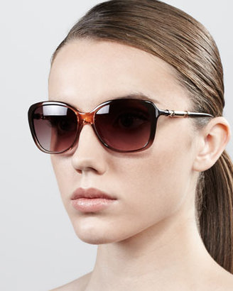 Givenchy Ombre Butterfly Sunglasses, Peach