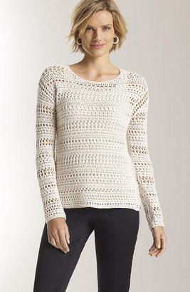 J. Jill Open-stitch cotton pullover