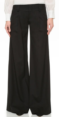alice + olivia Eric Front Pleat Wide Leg Pants $297 thestylecure.com