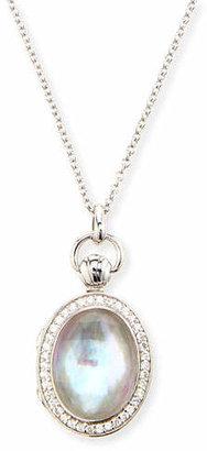 Monica Rich Kosann Petite Oval Rock Crystal Locket Necklace