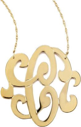 Jennifer Zeuner Jewelry Swirly Initial Necklace, C