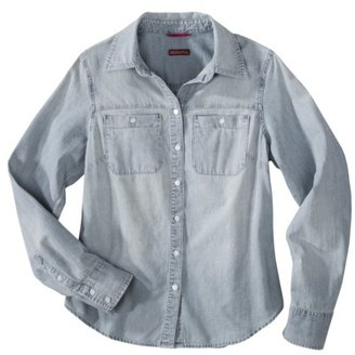 Merona Women's Favorite Denim Shirt - Blue