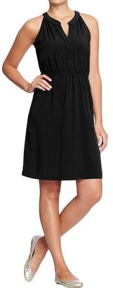 Old Navy Women's Split-Neck Sleeveless Dresses