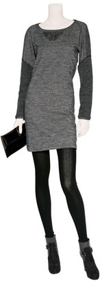 See by Chloe Grey Mélange Wool-Blend Dress