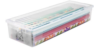 Container Store Clear Gift Wrap Box