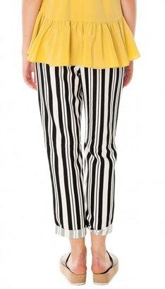 Tibi Summer Stripe Cuffed Pant