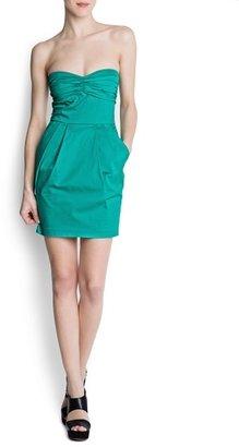 MANGO Pleated details dress