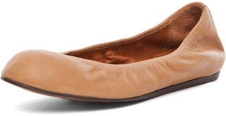 Lanvin Leather Ballerina Flat in Cognac