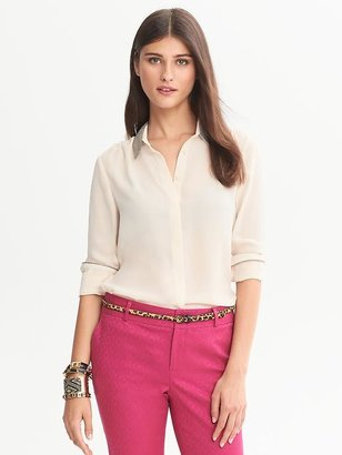 Banana Republic Lurex-Collar Blouse