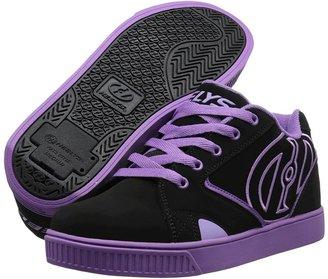 Heelys Propel (Little Kid/Big Kid/Women's) (Black/Purple Synthetic Nubuck) - Footwear