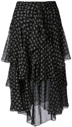 Jason Wu paisley midi skirt