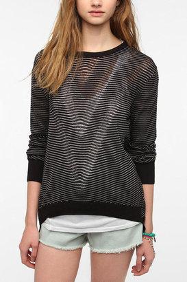 Silence & Noise Silence + Noise Sheer Double-V Sweater