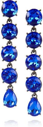Oscar de la Renta Gunmetal-tone drop clip earrings