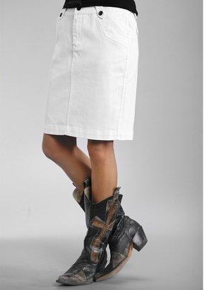 Stetson Pencil Skirt - Garment-Washed Stretch Denim (For Women)