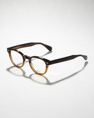 Oliver Peoples Sheldrake Fashion Glasses, Brown