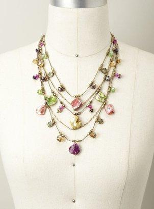 Stephan & Co Multi Row Shell & Bead Necklace