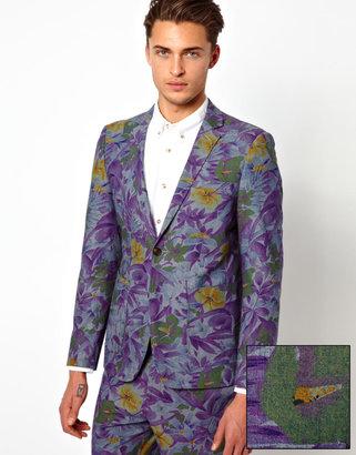 Asos Slim Fit Blazer in Floral Print