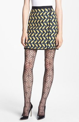 Nordstrom Miss Wu Abstract Chain Jacquard Skirt Exclusive)