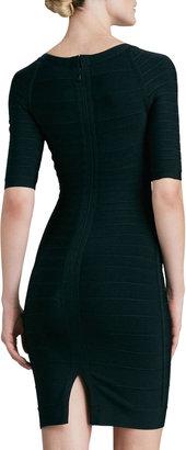 Herve Leger Sweetheart-Neck Bandage Dress