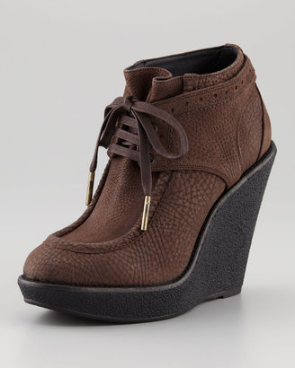 Burberry Leather Wedge Bootie