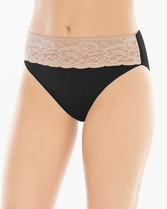 Soma Intimates Cotton Blend w/Lace High Leg