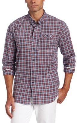 Nautica Men's Long Sleeve Plaid Button Down Shirt