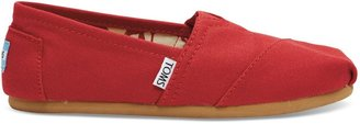 Toms Women's Red Canvas Classic 001001B07-RED (Size: 8.5)