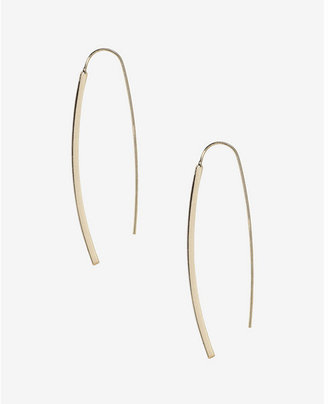 Express Metal Bar Pull Through Earrings $16.90 thestylecure.com