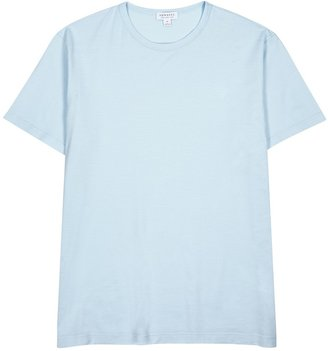 Sunspel Light Blue Cotton T-shirt