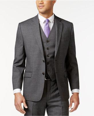 Lauren Ralph Lauren Grey Sharkskin Big and Tall Jacket $425 thestylecure.com