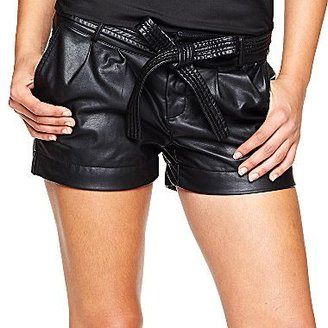 JCPenney Bisou Bisou® Belted Faux Leather Shorts