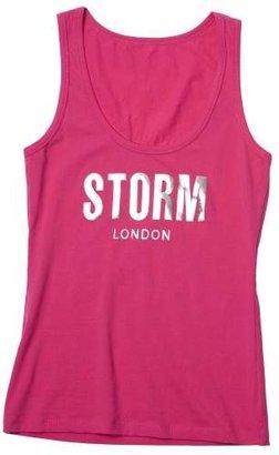 Storm Womens Ladies Vest Top with Foil Print 6MG0007/PK/XS