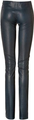 Jitrois Stretch Leather Leggings in Mallard
