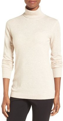 Women's Nordstrom Collection Long Cashmere Turtleneck Sweater $199 thestylecure.com